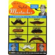 A brand new mustache for every day of the week!